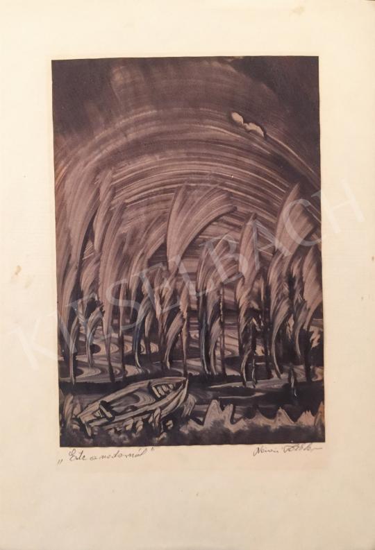 Eladó  Nánási Tóth Lajos - Este a sodornál festménye