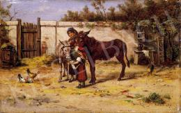 Bruck, Lajos - Girls with donkeys