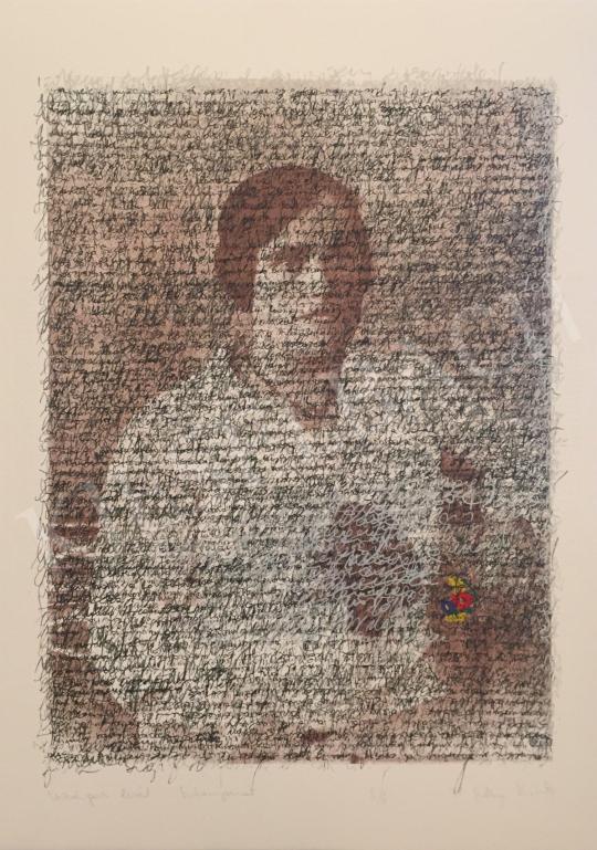 Eladó Szőnyi Krisztina - Virágos levél, 1998 festménye