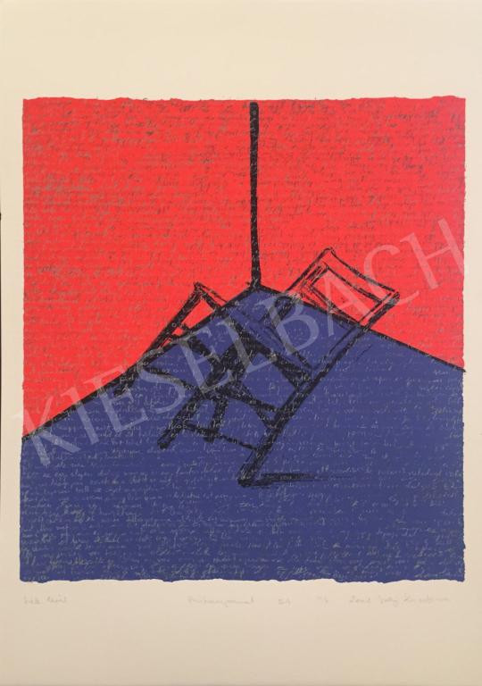 Eladó Szőnyi Krisztina - Szék levél, 2001 festménye