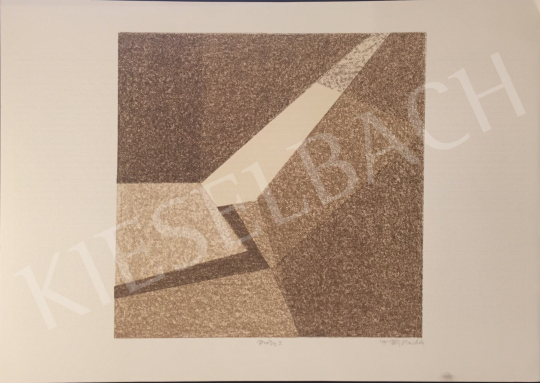 For sale Péli, Mandula - Brown Composition, 1995 's painting
