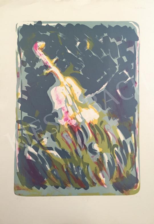 Eladó Sinkó István - Éjféli zene, 1997 festménye