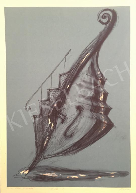Eladó  Sinkó István - Vízben álló lépcselló, 2002 festménye