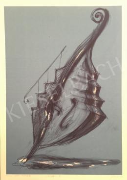 Sinkó István - Vízben álló lépcselló, 2002