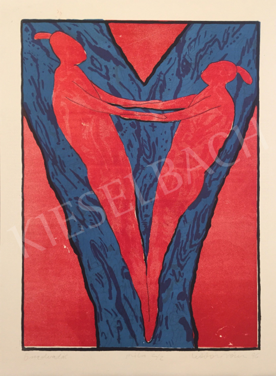 Eladó Kalmár István - Összeolvadás, 1996 festménye