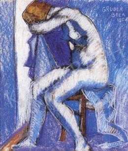 Gruber, Béla - Blue nude