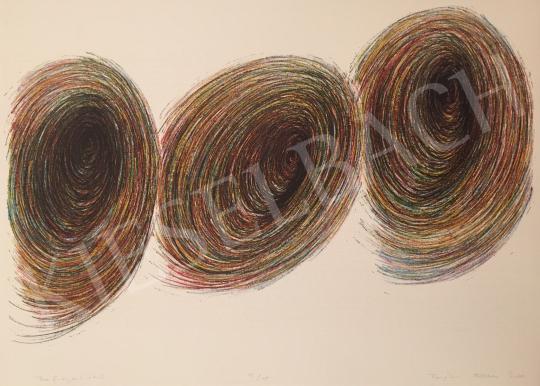 Eladó  Ismeretlen művész olvashatatlan szignóval - Befogadók II., 2001 festménye