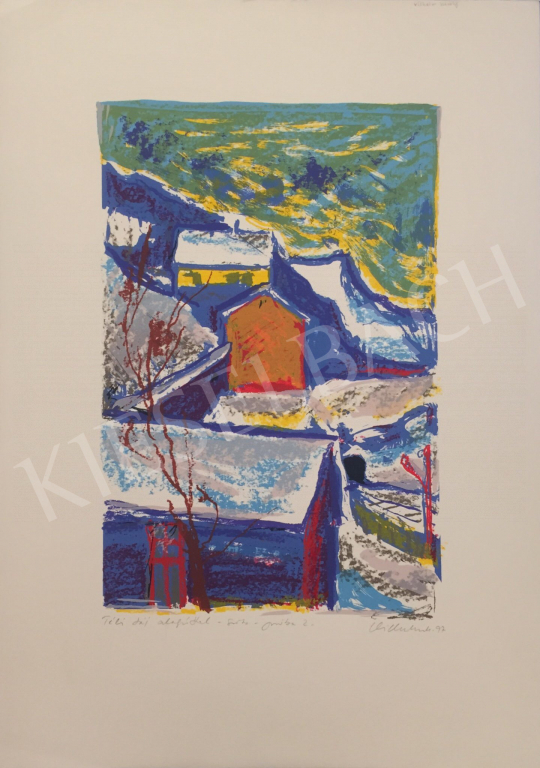 For sale Vilhelm, Károly - Winter Landscape with Tunnel, 1997 's painting