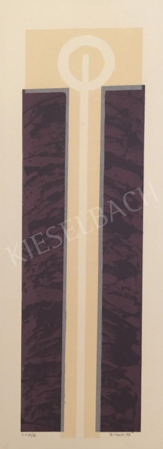 For sale  Unknown Artist with Oestreich Signature - Brown Beige Composition, 1998 's painting