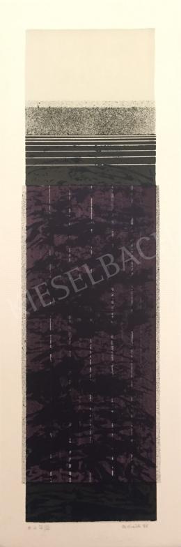 Ismeretlen művész Oestreich szignóval - Szürke-lila kompozíció, 1998