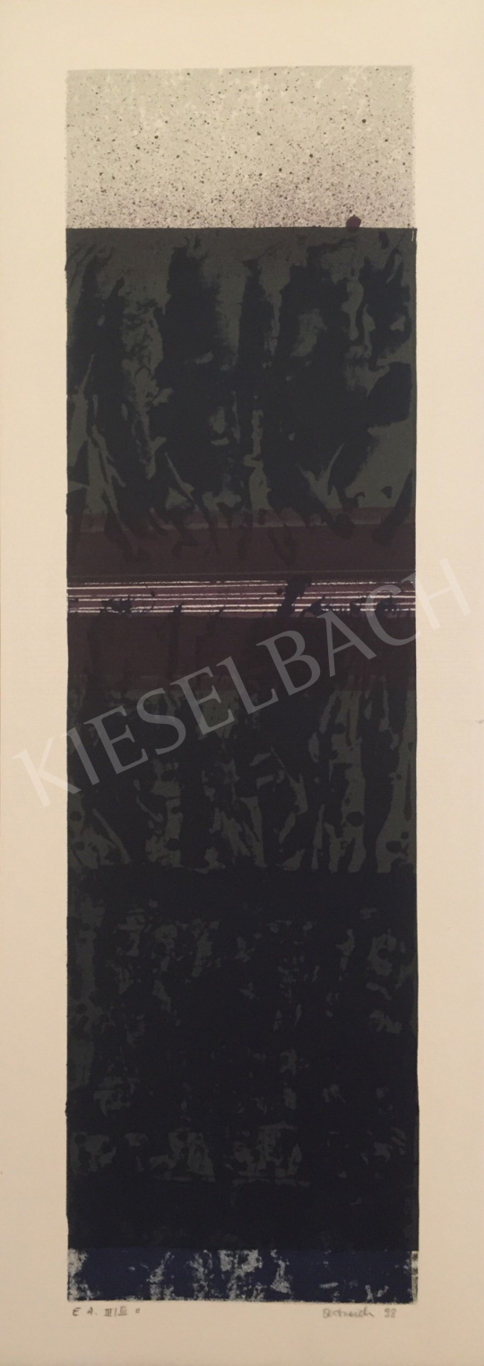 For sale  Unknown Artist with Oestreich Signature - Grey Black Composition, 1998 's painting
