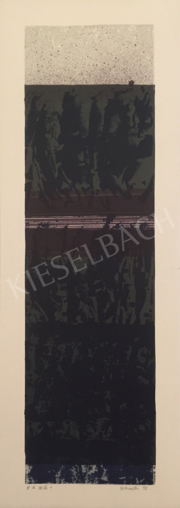 Unknown Artist with Oestreich Signature - Grey Black Composition, 1998