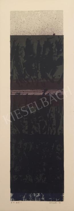 Ismeretlen művész Oestreich szignóval - Szürke fekete kompozíció, 1998