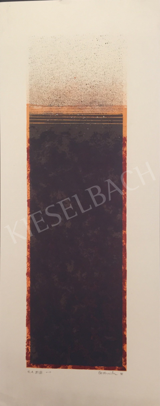 For sale  Unknown Artist with Oestreich Signature - Orange Brown Composition, 1998 's painting
