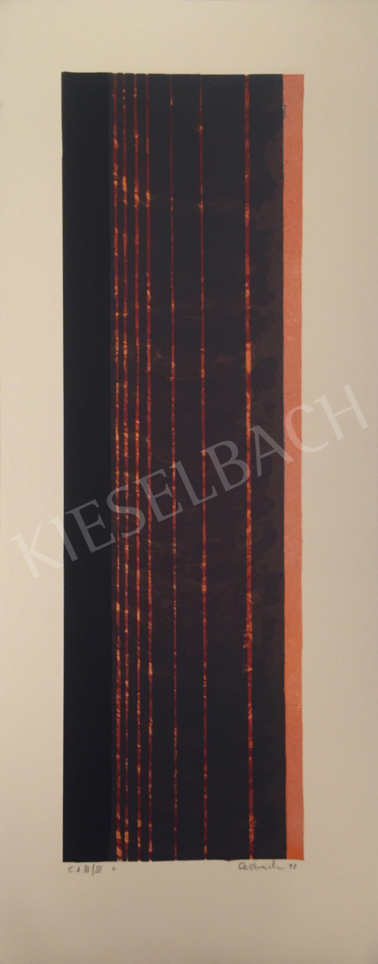 For sale  Unknown Artist with Oestreich Signature - Black Red Composition, 1998 's painting