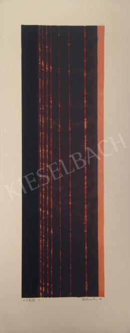Ismeretlen művész Oestreich szignóval - Fekete piros kompozíció, 1998