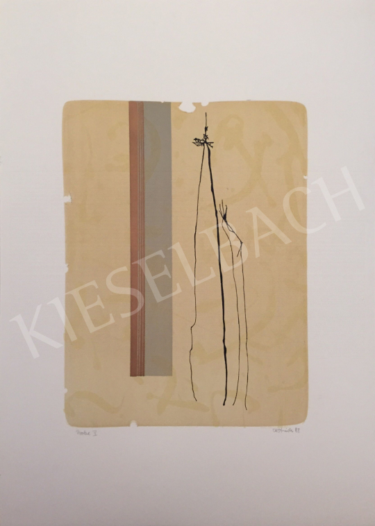 For sale  Unknown Artist with Oestreich Signature - Probe V., 1998 's painting