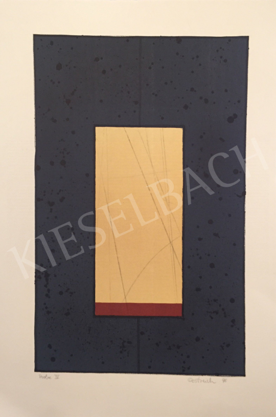 For sale  Unknown Artist with Oestreich Signature - Probe IV., 1996 's painting