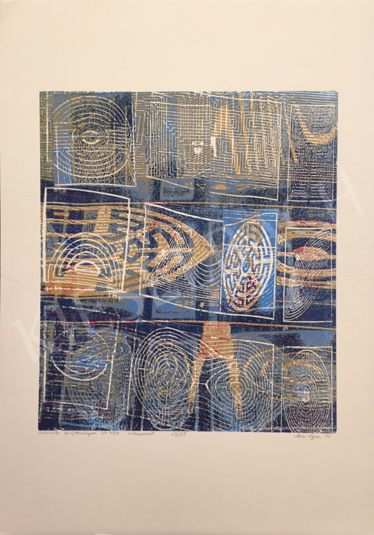 Haász Ágnes - Labirintus gyűjteményem No 48/K, 1998 festménye