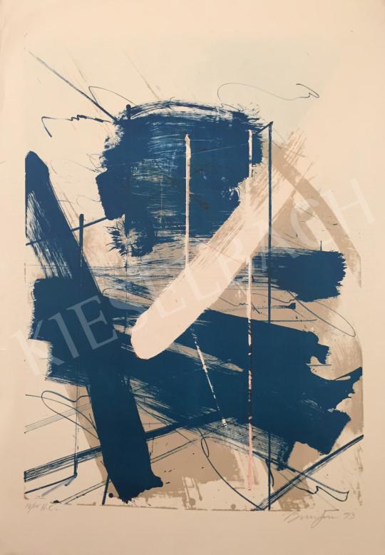 Eladó  Frederick D. Bunsen - Türkiz fehér kompozíció, 1993 festménye