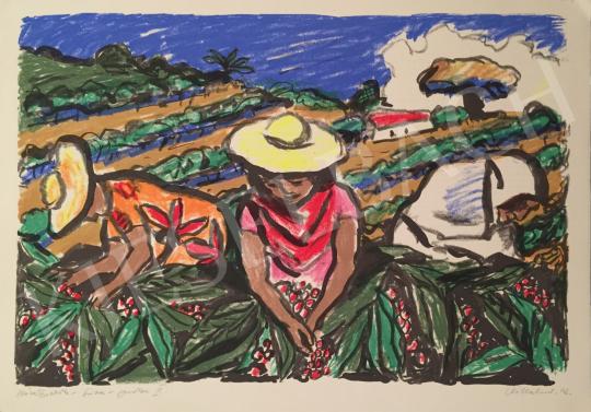 Eladó Vilhelm Károly - Kávészedők, 2002 festménye