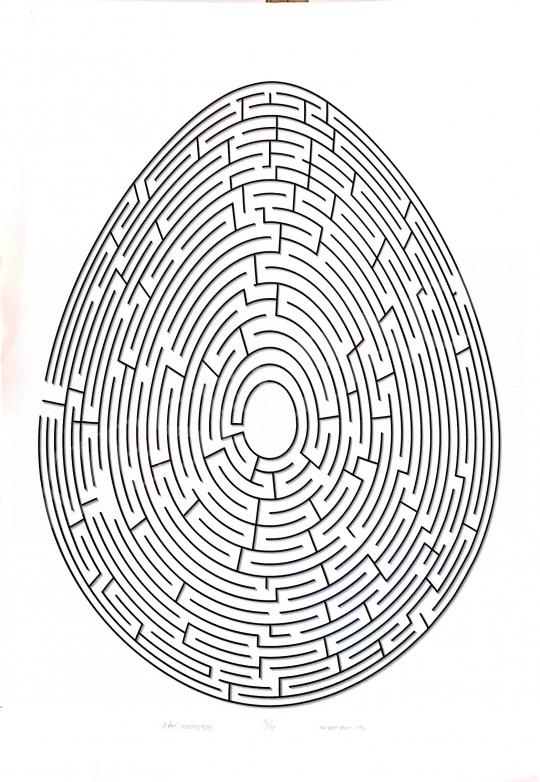 Eladó Prutkay Péter - A nagy labirintus tojás, 1996 festménye