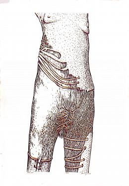 Benes József - Body-art, 1996