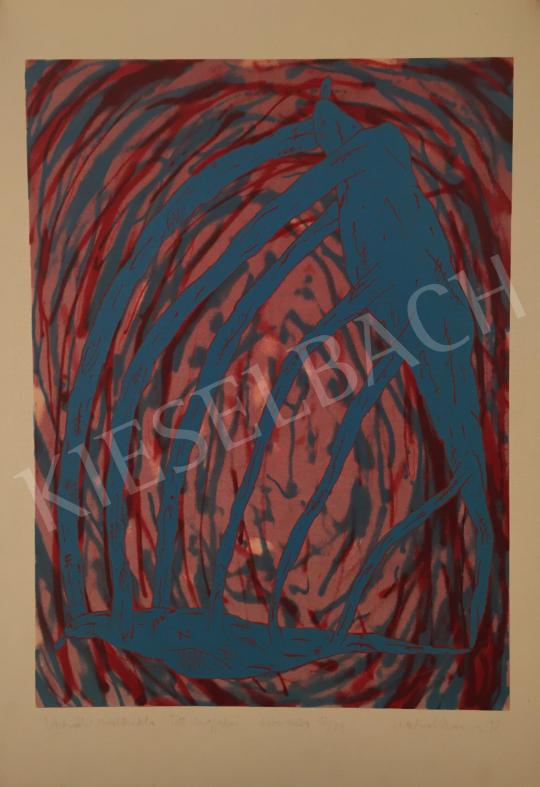Eladó Kalmár István - Virtuális szülőszikla: Tett angyalai, 1998 festménye