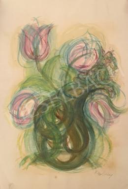 Dombay Lelly - Tulipános kompozíció