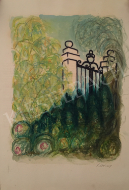 Dombay, Lelly (Dombay Lelli, Dornis Istvánné) - Garden Detail with Gate