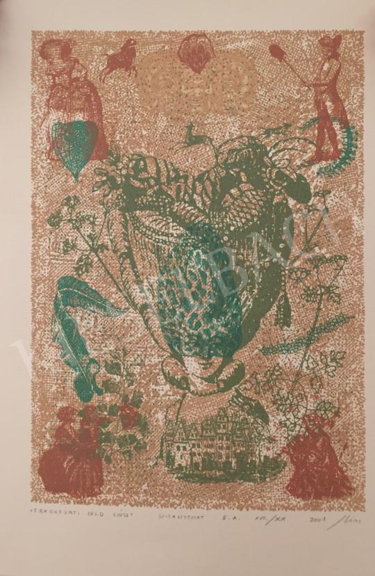 Eladó Kiss Ilona - Frankfurti zöld szósz, 2001 festménye