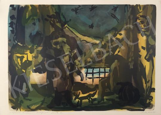 Eladó Vilhelm Károly - Kocsma jelenet, 1998 festménye