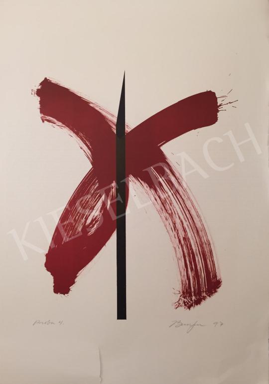 Eladó  Frederick D. Bunsen - Vörös X, 1997 festménye