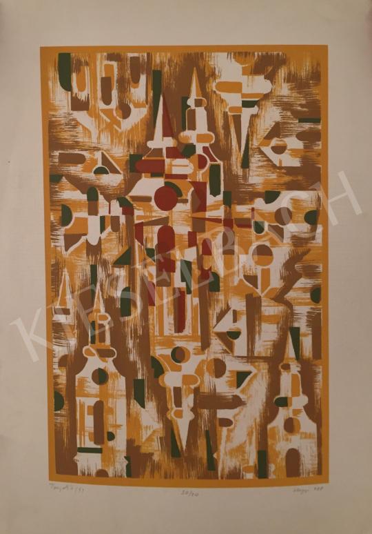 Eladó Hegyi György - Tornyok II., 1988 festménye