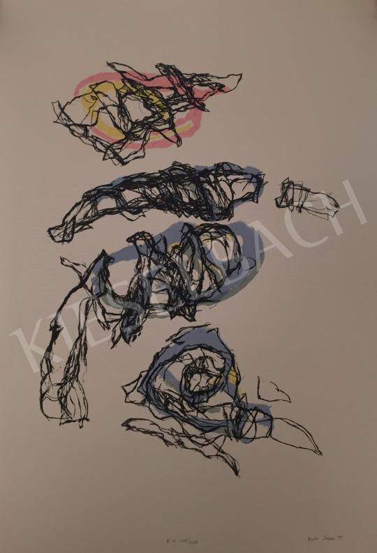 Eladó  Barta János - Kompozíció, 1999 festménye