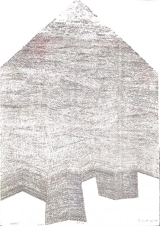 Eladó Bodor Anikó - Lépegető, 2001 festménye