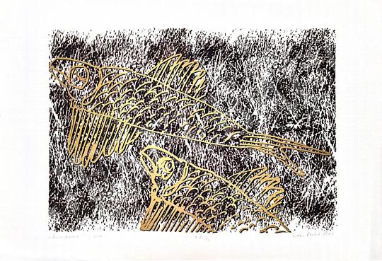 Eladó Bodor Anikó - Aranyhalak, 1997 festménye