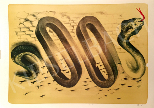 For sale Zsankó, László - Green Snake, 2001 's painting