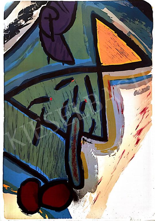 Eladó  Szabados Árpád - Hármaskép II., 1993 festménye