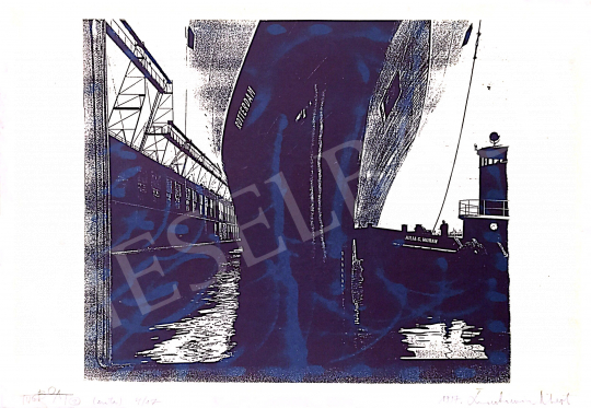 Eladó  Swierkiewicz Róbert - Tugboat, 1997 festménye