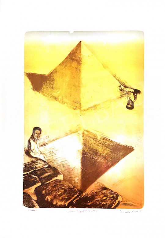 For sale Zsankó, László - Pyramid, 1999 's painting