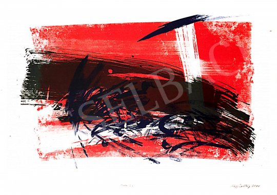For sale  Kiss, Zoltán - Red-Blue Composition, 2000 's painting