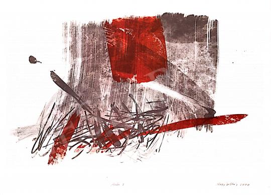 Kiss Zoltán - Vörös-barna kompozíció, 2000 festménye