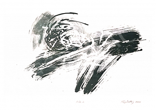 Eladó  Kiss Zoltán - Zöld kompozíció, 2000 festménye