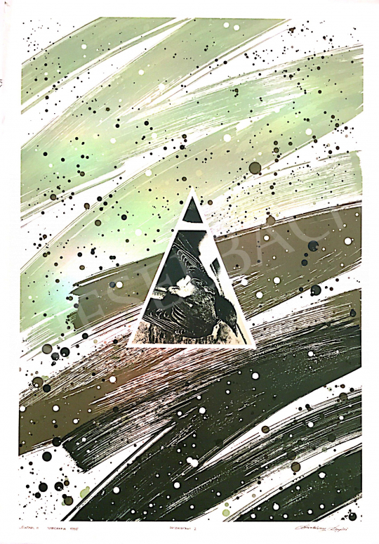 Eladó  Sárkány Győző - Légvonal III., 1995 festménye