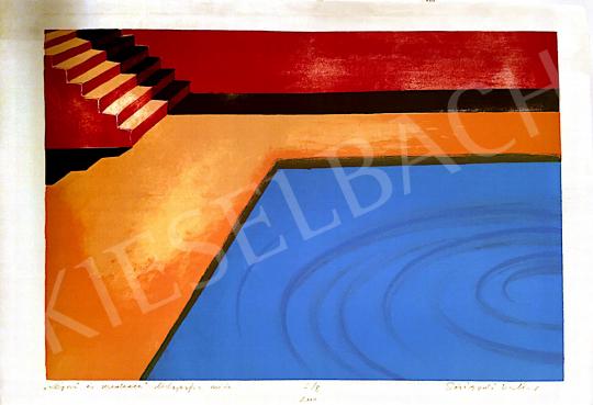 Sóváradi Valéria - Lépcső és medence, 2000 festménye