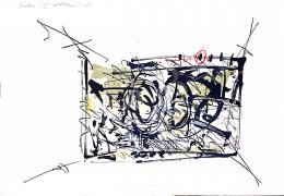Markos András - Absztrakt kompozíció, 1996