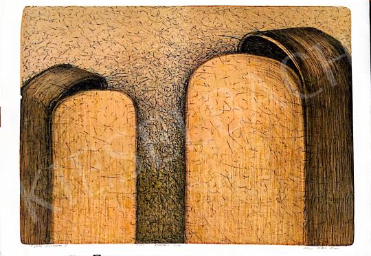 Eladó  Kovács Péter Balázs - Titkos párbeszéd, 2001 festménye