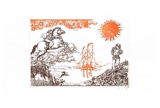 Eladó  Révész Napsugár - Mesejelenet festménye