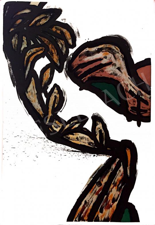 Eladó  Szabados Árpád - Barlang I-IX., 1995 festménye
